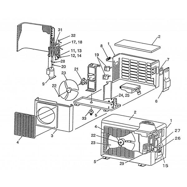 vanne 4 voies climatisation r versible inverter ras10javp e toshiba. Black Bedroom Furniture Sets. Home Design Ideas