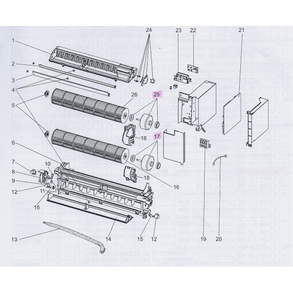 support turbine climatisation mitsubishi mfz25va mfz35va mfz50va. Black Bedroom Furniture Sets. Home Design Ideas